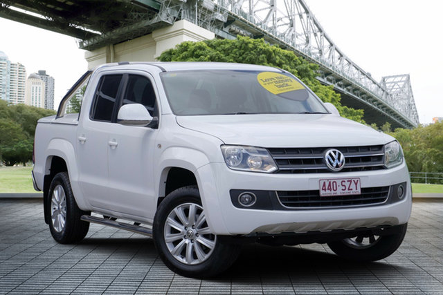 Used Volkswagen Amarok 2H MY13 TDI420 4Motion Perm Highline, 2012 Volkswagen Amarok 2H MY13 TDI420 4Motion Perm Highline White 8 Speed Automatic Utility
