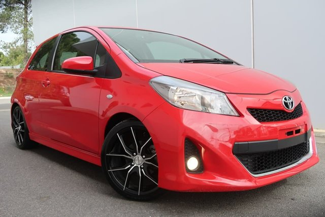 Used Toyota Yaris NCP131R ZR, 2012 Toyota Yaris NCP131R ZR Red 5 Speed Manual Hatchback