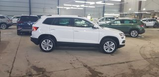 2019 Skoda Karoq NU MY19 110TSI DSG FWD White 7 Speed Sports Automatic Dual Clutch Wagon