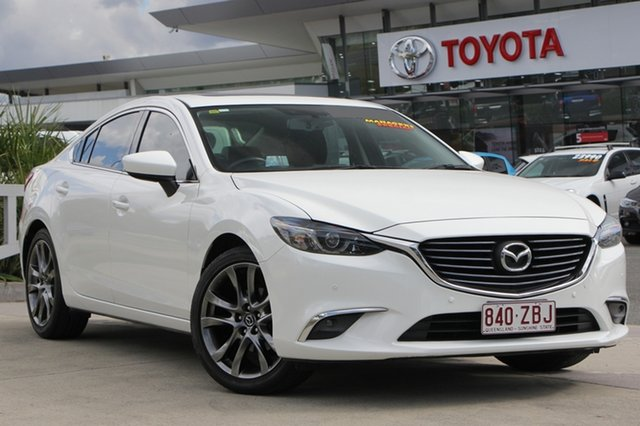 Used Mazda 6 GJ1032 GT SKYACTIV-Drive, 2015 Mazda 6 GJ1032 GT SKYACTIV-Drive White 6 Speed Sports Automatic Sedan