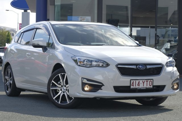 Demo Subaru Impreza G5 MY19 2.0i Premium CVT AWD, 2018 Subaru Impreza G5 MY19 2.0i Premium CVT AWD White Crystal 7 Speed Constant Variable Hatchback