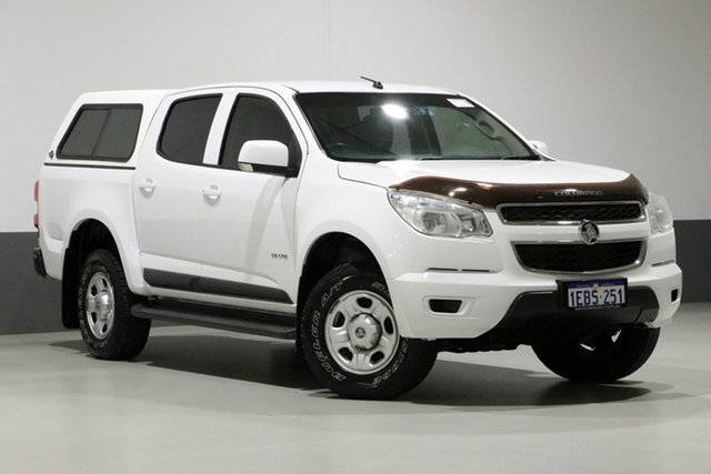 Used Holden Colorado RG LX (4x2), 2012 Holden Colorado RG LX (4x2) White 6 Speed Automatic Crew Cab Pickup