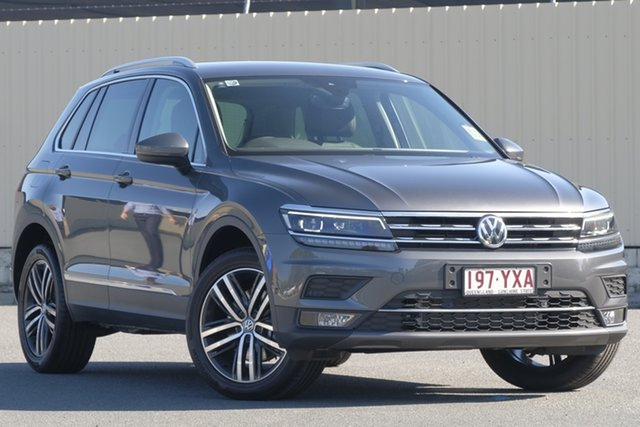 Demo Volkswagen Tiguan 5N MY19 162TSI DSG 4MOTION Highline, 2018 Volkswagen Tiguan 5N MY19 162TSI DSG 4MOTION Highline Indium Grey 7 Speed