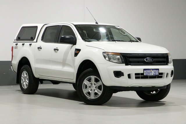Used Ford Ranger PX XL 2.2 (4x4), 2012 Ford Ranger PX XL 2.2 (4x4) White 6 Speed Manual Crew Cab Chassis