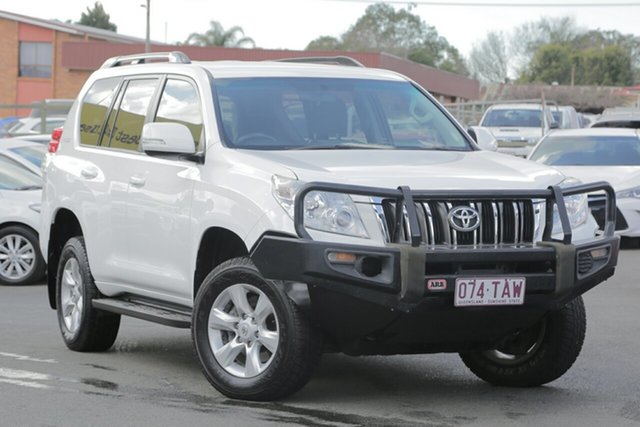 Used Toyota Landcruiser Prado KDJ150R GXL, 2013 Toyota Landcruiser Prado KDJ150R GXL White 5 Speed Sports Automatic Wagon