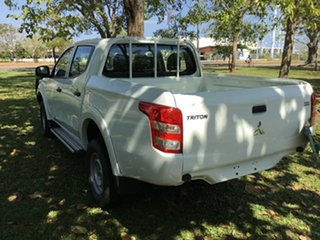 2015 Mitsubishi Triton MN MY15 GLX White 4 Speed Automatic Double Cab Utility