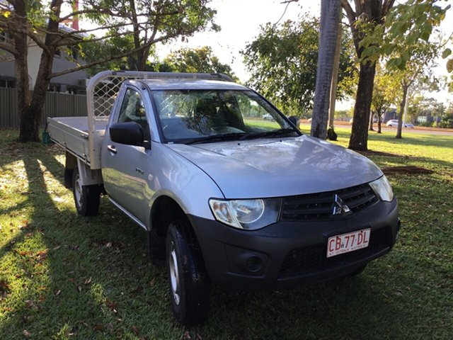 Used Mitsubishi Triton MN MY14 Update GL, 2014 Mitsubishi Triton MN MY14 Update GL Silver 5 Speed Manual Cab Chassis