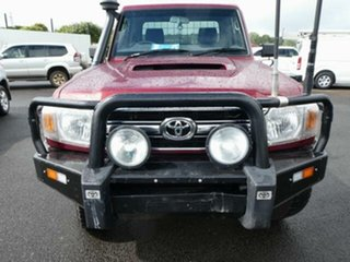 2015 Toyota Landcruiser VDJ79R MY12 Update GXL (4x4) Merlot Red 5 Speed Manual Cab Chassis.