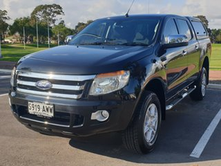 2013 Ford Ranger PX XLT Double Cab 4x2 Hi-Rider Black 6 Speed Sports Automatic Utility.