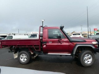 2015 Toyota Landcruiser VDJ79R MY12 Update GXL (4x4) Merlot Red 5 Speed Manual Cab Chassis