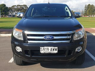 2013 Ford Ranger PX XLT Double Cab 4x2 Hi-Rider Black 6 Speed Sports Automatic Utility
