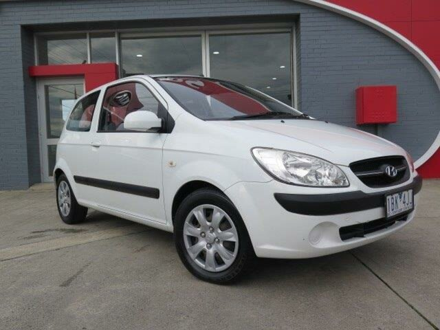 Used Hyundai Getz TB MY09 S, 2009 Hyundai Getz TB MY09 S White 4 Speed Automatic Hatchback