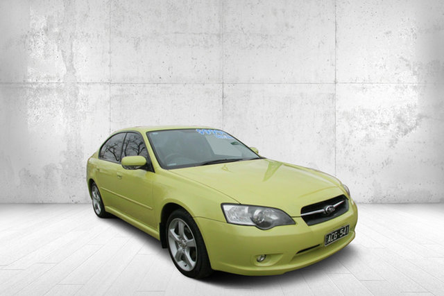 Used Subaru Liberty B4 MY05 AWD, 2005 Subaru Liberty B4 MY05 AWD Yellow 4 Speed Sports Automatic Sedan