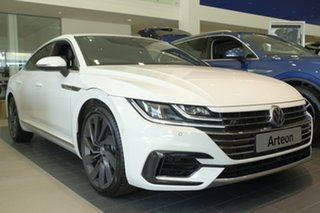 2018 Volkswagen Arteon 3H MY18 206TSI Sedan DSG 4MOTION R-Line Pure White 7 Speed.