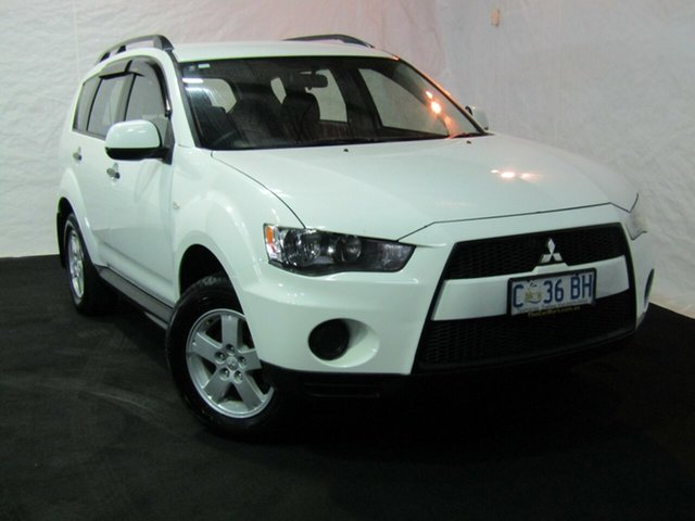 Used Mitsubishi Outlander ZH MY10 LS, 2010 Mitsubishi Outlander ZH MY10 LS White 6 Speed Constant Variable Wagon