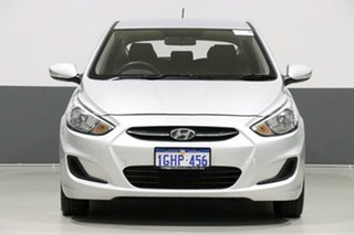 2017 Hyundai Accent RB4 MY17 Active Silver 6 Speed Manual Sedan.