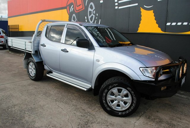 Used Mitsubishi Triton MN MY15 GLX Double Cab, 2014 Mitsubishi Triton MN MY15 GLX Double Cab Satellite Silver 4 Speed Sports Automatic Utility
