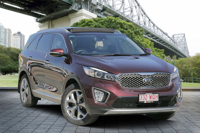 Used Kia Sorento UM MY16 Platinum AWD, 2016 Kia Sorento UM MY16 Platinum AWD Maroon 6 Speed Sports Automatic Wagon