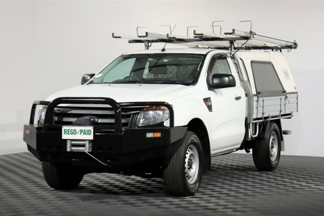 Used Ford Ranger PX XL, 2014 Ford Ranger PX XL White 6 Speed Sports Automatic Cab Chassis