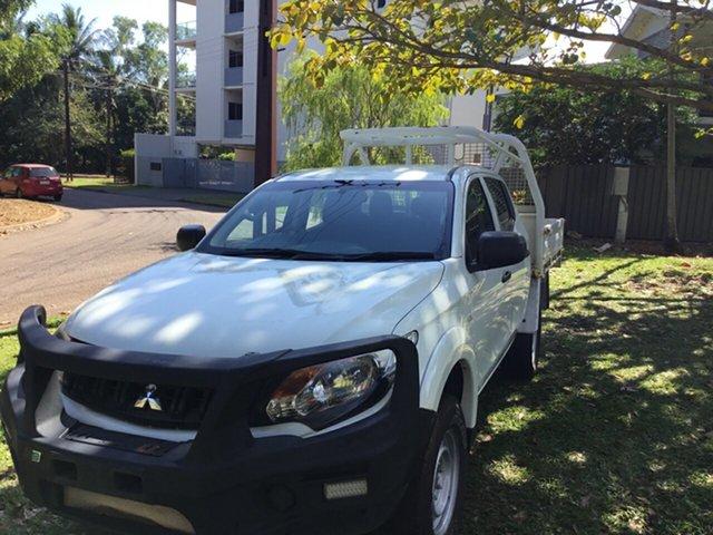 Used Mitsubishi Triton MQ MY16 GLX (4x4), 2016 Mitsubishi Triton MQ MY16 GLX (4x4) White 5 Speed Automatic Dual Cab Utility