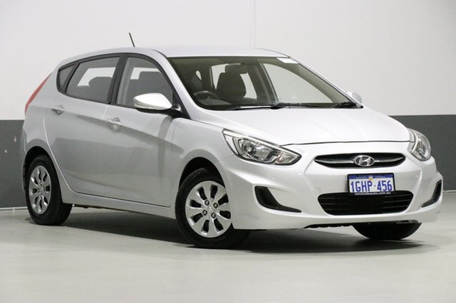 Used Hyundai Accent RB4 MY17 Active, 2017 Hyundai Accent RB4 MY17 Active Silver 6 Speed Manual Sedan
