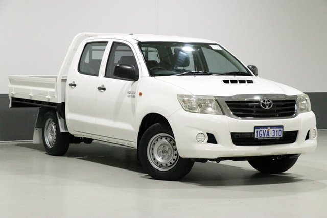 Used Toyota Hilux KUN16R MY12 SR, 2011 Toyota Hilux KUN16R MY12 SR White 5 Speed Manual Dual Cab Pick-up