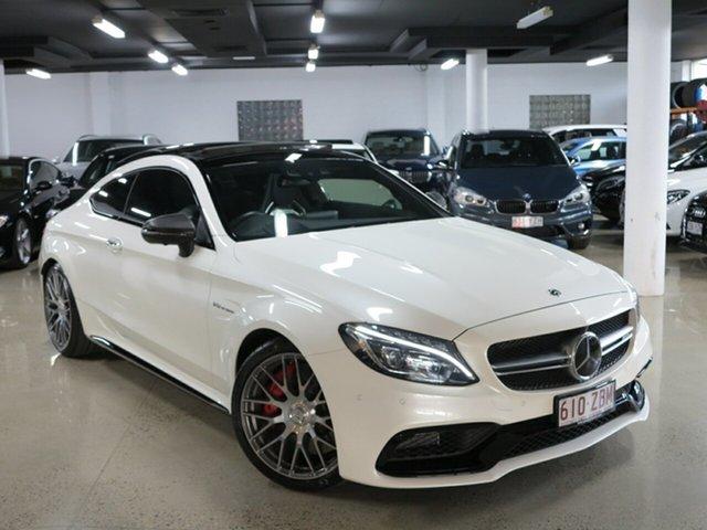 Used Mercedes-Benz C-Class C205 808MY C63 AMG SPEEDSHIFT MCT S, 2018 Mercedes-Benz C-Class C205 808MY C63 AMG SPEEDSHIFT MCT S Diamond White 7 Speed
