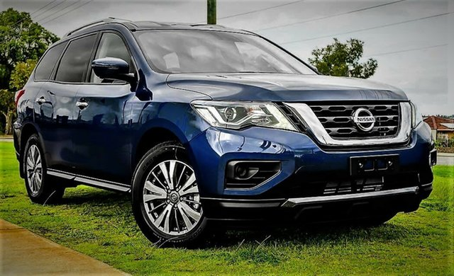Demo Nissan Pathfinder R52 Series III MY19 ST+ X-tronic 2WD, 2019 Nissan Pathfinder R52 Series III MY19 ST+ X-tronic 2WD Caspian Blue 1 Speed Constant Variable