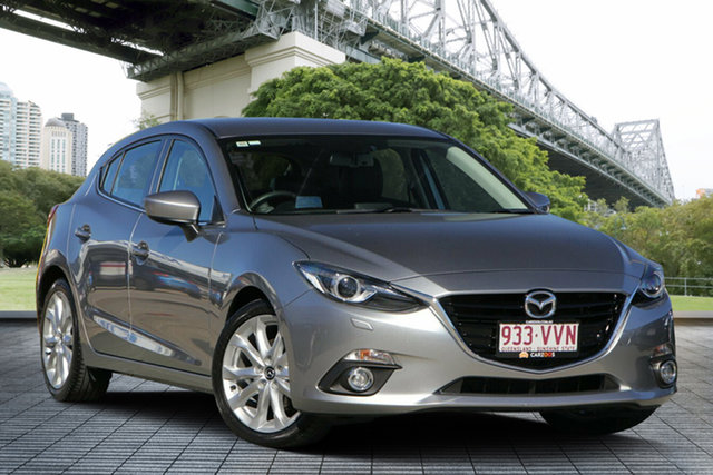Used Mazda 3 BM5438 SP25 SKYACTIV-Drive, 2015 Mazda 3 BM5438 SP25 SKYACTIV-Drive Silver 6 Speed Sports Automatic Hatchback