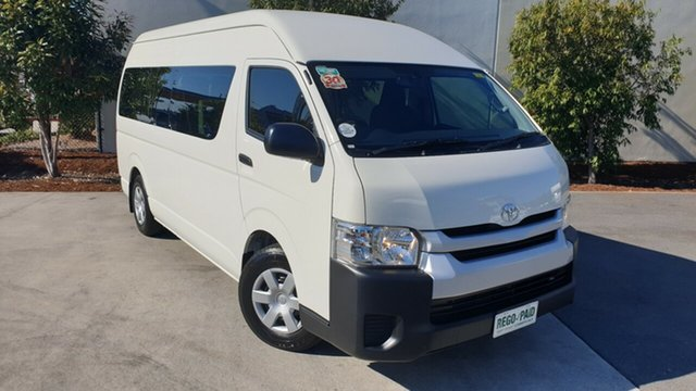 Used Toyota HiAce TRH223R Commuter High Roof Super LWB, 2015 Toyota HiAce TRH223R Commuter High Roof Super LWB White 6 Speed Automatic Bus