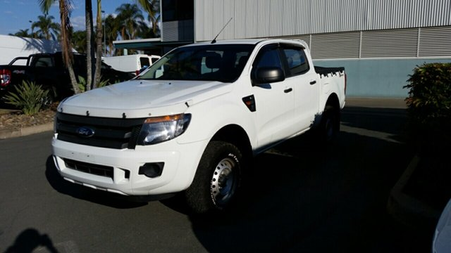 Used Ford Ranger PX XL Double Cab 4x2 Hi-Rider, 2014 Ford Ranger PX XL Double Cab 4x2 Hi-Rider White 6 Speed Manual Utility