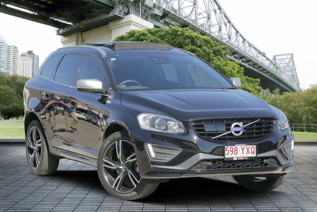 Used Volvo XC60 DZ MY17 T6 Geartronic AWD R-Design, 2017 Volvo XC60 DZ MY17 T6 Geartronic AWD R-Design Black 8 Speed Sports Automatic Wagon