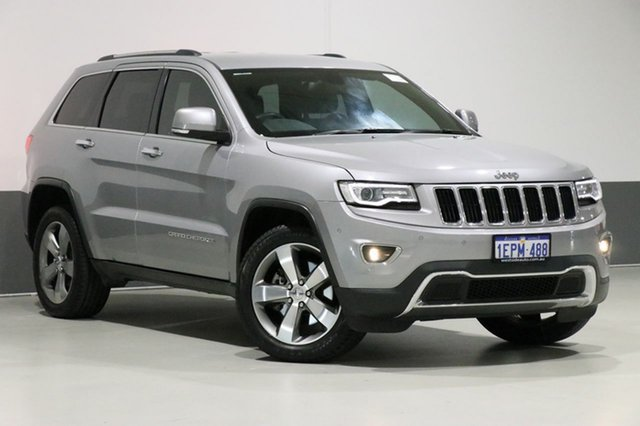 Used Jeep Grand Cherokee WK MY14 Limited (4x4), 2014 Jeep Grand Cherokee WK MY14 Limited (4x4) Silver 8 Speed Automatic Wagon