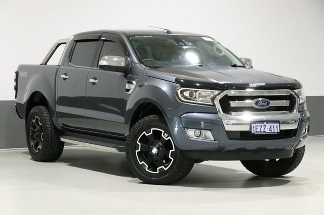 Used Ford Ranger PX MkII XLT 3.2 (4x4), 2016 Ford Ranger PX MkII XLT 3.2 (4x4) Grey 6 Speed Manual Dual Cab Utility