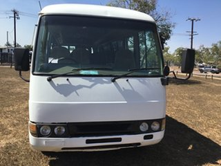2007 Mitsubishi Fuso Rosa BE649 Base White Bus.