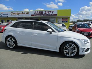 2014 Audi A3 8V Ambition Sportback S Tronic Quattro White 6 Speed Sports Automatic Dual Clutch