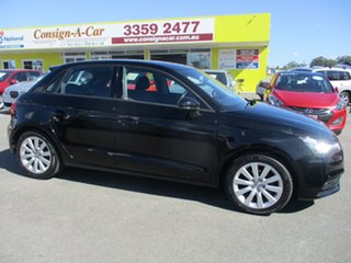 2013 Audi A1 8X MY14 Attraction Sportback Black 5 Speed Manual Hatchback.