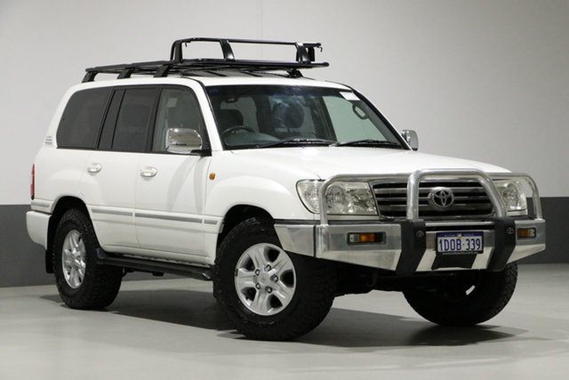 Used Toyota Landcruiser UZJ100R Upgrade Sahara (4x4), 2005 Toyota Landcruiser UZJ100R Upgrade Sahara (4x4) White 5 Speed Automatic Wagon