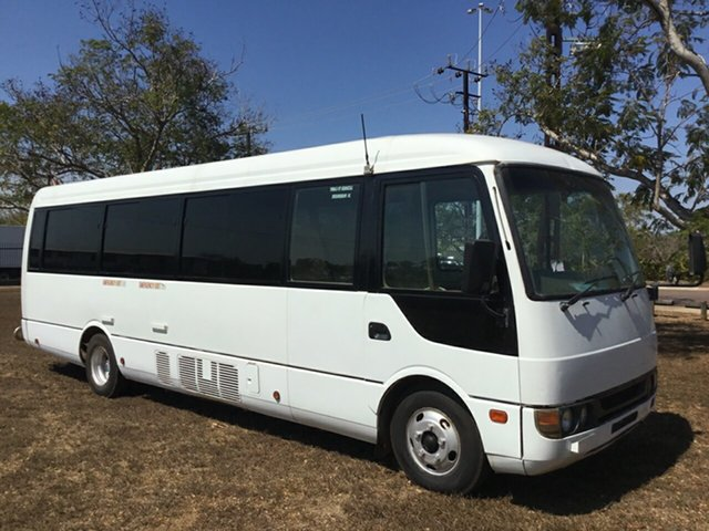 Used Mitsubishi Fuso Rosa BE649 Base, 2007 Mitsubishi Fuso Rosa BE649 Base White Bus