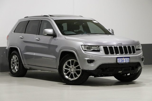 Used Jeep Grand Cherokee WK MY14 Overland (4x4), 2014 Jeep Grand Cherokee WK MY14 Overland (4x4) Silver 8 Speed Automatic Wagon