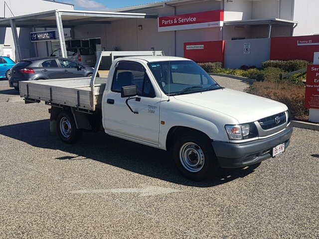 Used Toyota Hilux RZN147R MY02 Workmate 4x2, 2003 Toyota Hilux RZN147R MY02 Workmate 4x2 White Solid 5 Speed Manual Cab Chassis