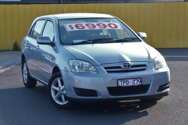 Used Toyota Corolla ZZE122R 5Y Ascent Sport, 2005 Toyota Corolla ZZE122R 5Y Ascent Sport Blue 5 Speed Manual Hatchback