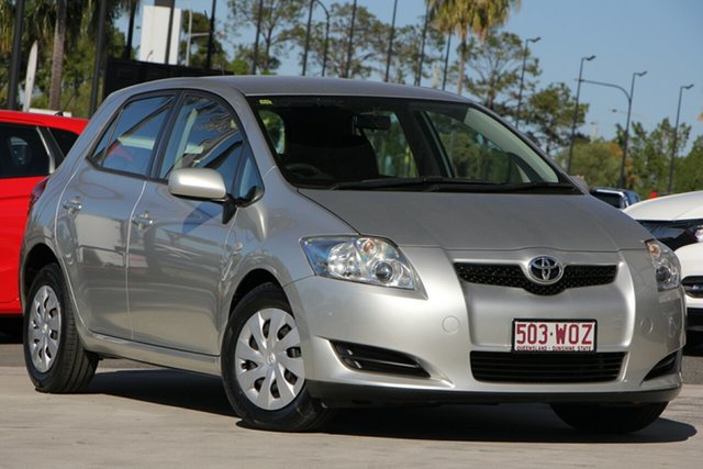 Used Toyota Corolla ZRE152R Ascent, 2009 Toyota Corolla ZRE152R Ascent Silver 4 Speed Automatic Hatchback