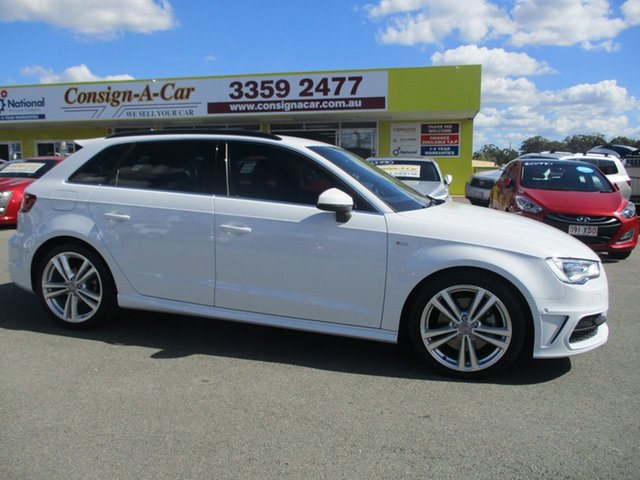 Used Audi A3 8V Ambition Sportback S Tronic Quattro, 2014 Audi A3 8V Ambition Sportback S Tronic Quattro White 6 Speed Sports Automatic Dual Clutch