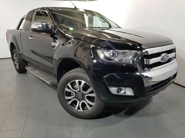 Used Ford Ranger PX MkII 2018.00MY XLT Super Cab, 2018 Ford Ranger PX MkII 2018.00MY XLT Super Cab Black 6 Speed Sports Automatic Utility