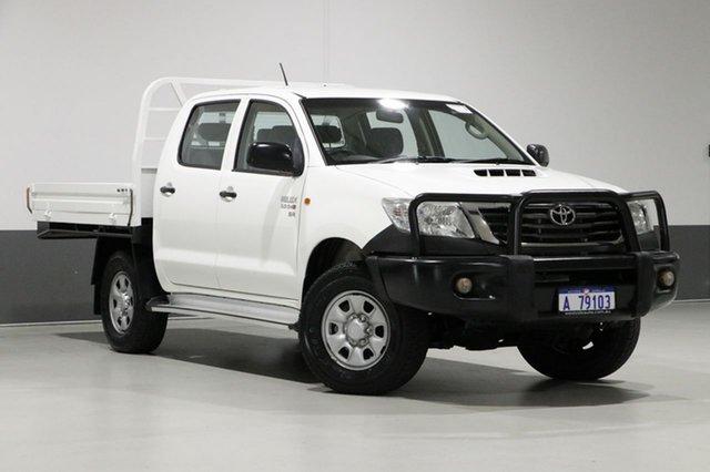 Used Toyota Hilux KUN26R MY12 SR (4x4), 2013 Toyota Hilux KUN26R MY12 SR (4x4) White 5 Speed Manual Dual Cab Chassis