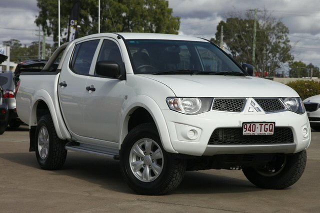 Used Mitsubishi Triton MN MY12 GL-R Double Cab, 2012 Mitsubishi Triton MN MY12 GL-R Double Cab White 5 Speed Manual Utility