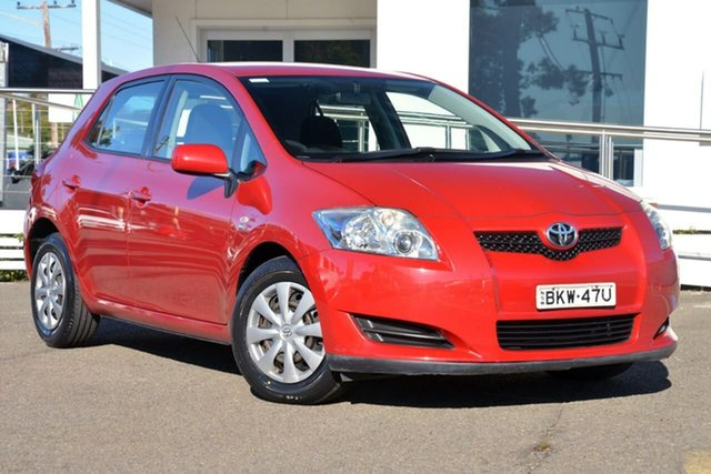 Used Toyota Corolla ZRE152R Ascent, 2009 Toyota Corolla ZRE152R Ascent Red 4 Speed Automatic Hatchback