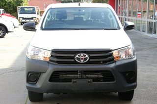2015 Toyota Hilux TGN121R Workmate Double Cab 4x2 Glacier White 6 Speed Sports Automatic Utility