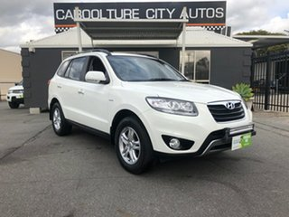 2011 Hyundai Santa Fe CM MY12 SLX White 6 Speed Sports Automatic Wagon.